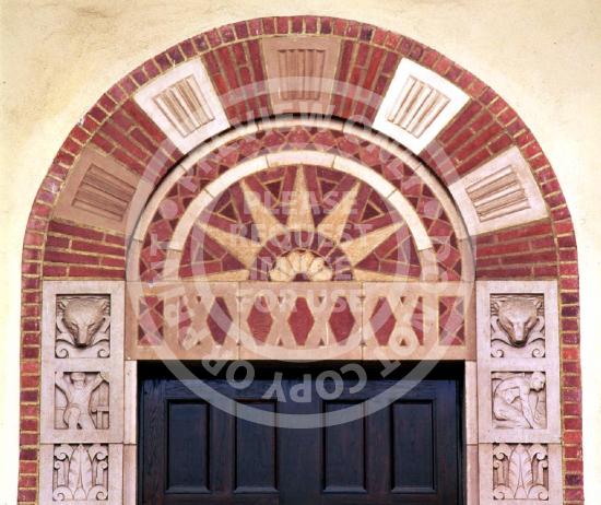 Brick Facade with Sunburst