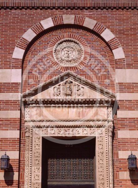 Brick Facade with Stripes