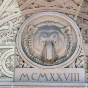 Bear Carving on Wall