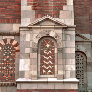Brick Facade with Herringbone