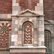 Brick Facade with Herringbone