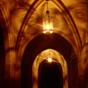 Royce Hall Corridor At Night