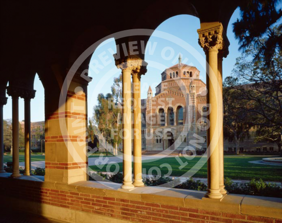 Powell Library Through Arches