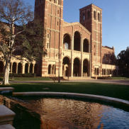 Royce Hall with Still Fountain