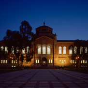 Powell Library at Night