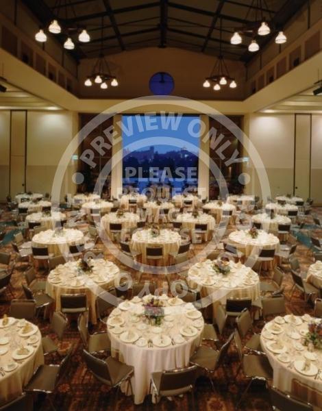 Banquet Setup - Grand Horizon Room and Terrace, Covel Commons