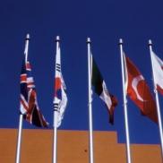 Tom Bradley Hall Flags