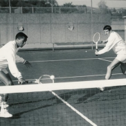 UCLA Men's Tennis (c. 1965) - Arthur Ashe vs. Ian Crookenden