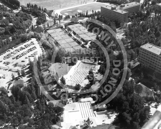 Aerial View of Residence Halls (c. 1980s)