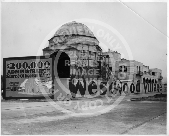 Westwood Village Under Construction (c. 1930s)